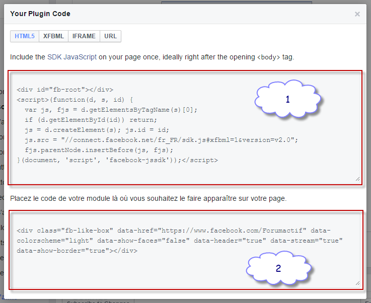 Twitter and Facebook widgets on your forum Fa310