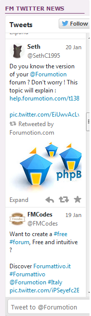 Twitter and Facebook widgets on your forum Im510