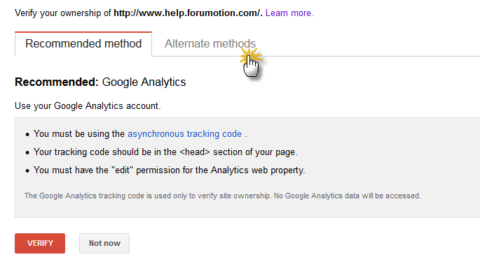 How to set up Google webmaster tools for your forum?  Web310