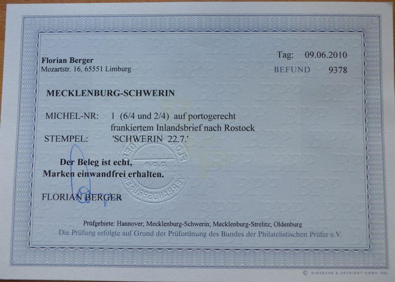 Mecklenburg - Mecklenburg-Schwerin Befund10