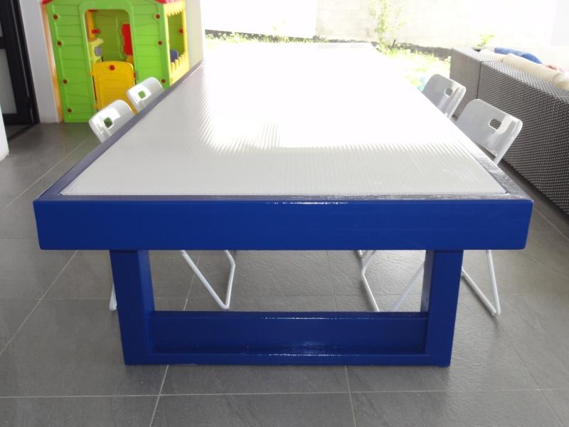 [TERMINE] Fabrication table en bois peint - polycarbonate pour terrasse - Page 2 Dsc00626