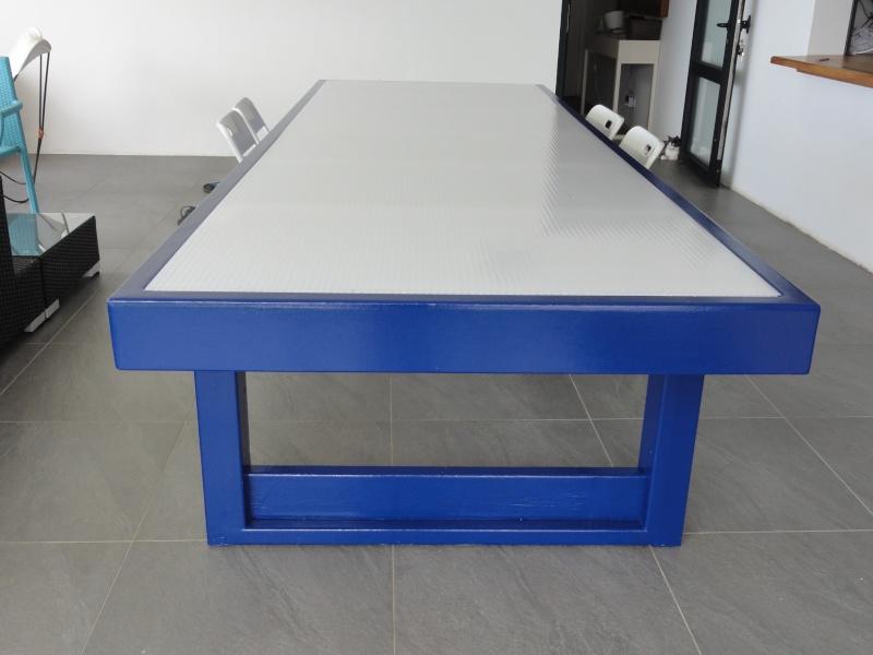 [TERMINE] Fabrication table en bois peint - polycarbonate pour terrasse - Page 2 Dsc00627