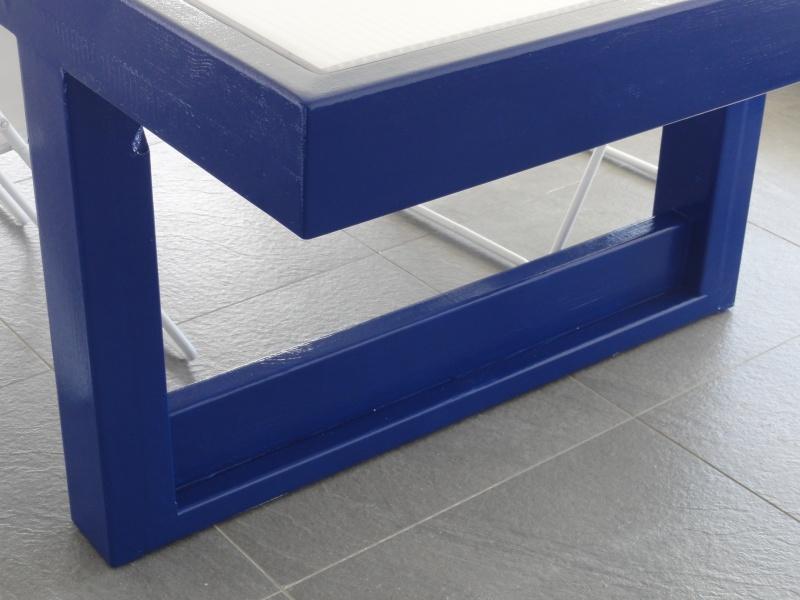 [TERMINE] Fabrication table en bois peint - polycarbonate pour terrasse - Page 2 Dsc00628