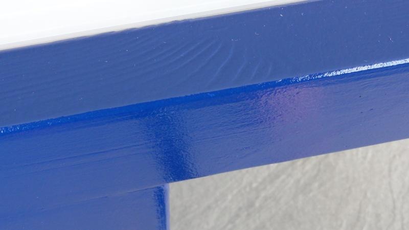 [TERMINE] Fabrication table en bois peint - polycarbonate pour terrasse - Page 2 Dsc00630