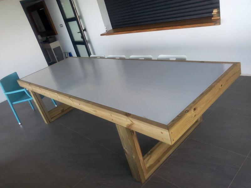 [TERMINE] Fabrication table en bois peint - polycarbonate pour terrasse Img_2020