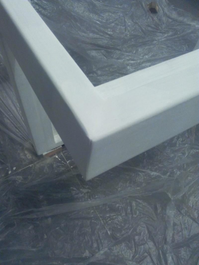 [TERMINE] Fabrication table en bois peint - polycarbonate pour terrasse Img_2039