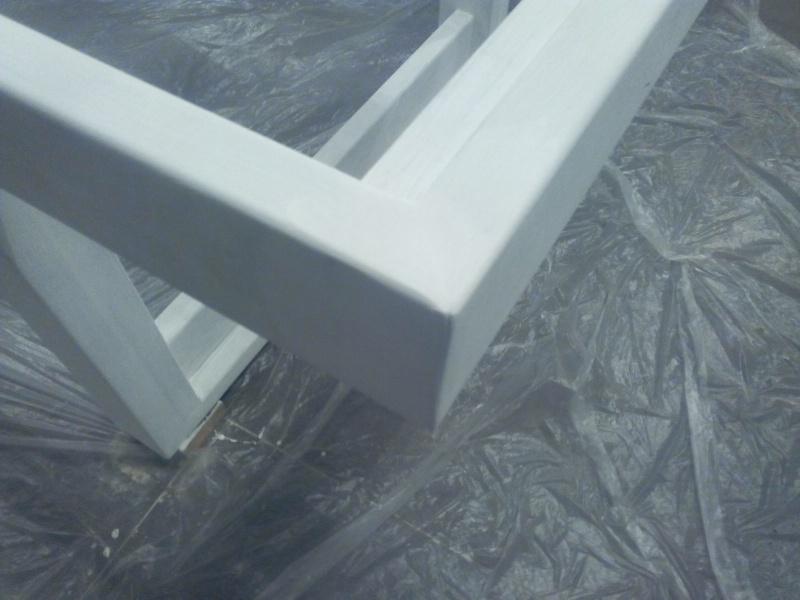 [TERMINE] Fabrication table en bois peint - polycarbonate pour terrasse Img_2040