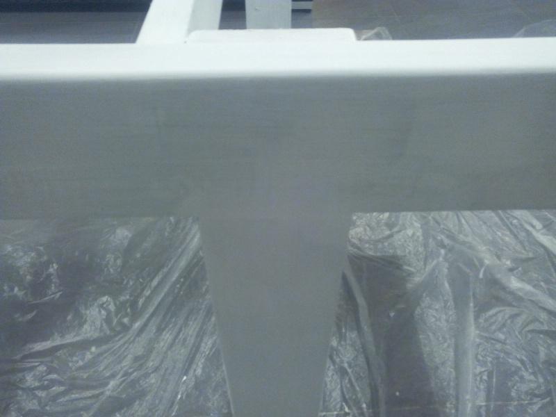 [TERMINE] Fabrication table en bois peint - polycarbonate pour terrasse Img_2041
