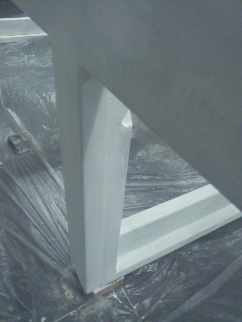 [TERMINE] Fabrication table en bois peint - polycarbonate pour terrasse Img_2042
