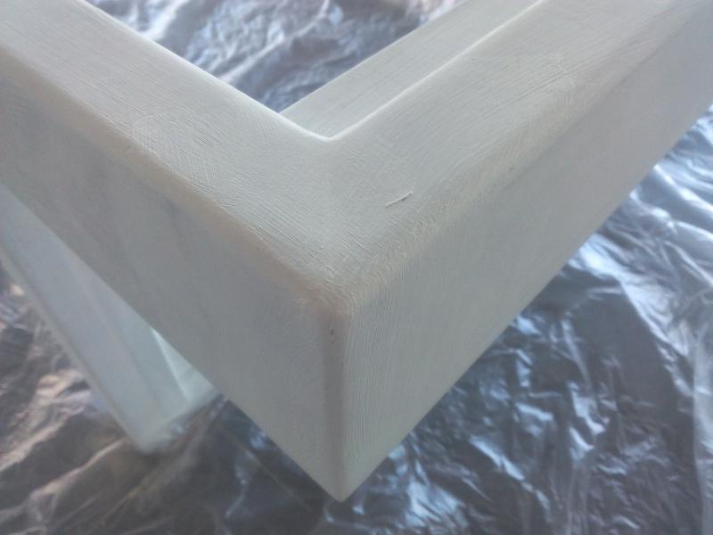 [TERMINE] Fabrication table en bois peint - polycarbonate pour terrasse Img_2043