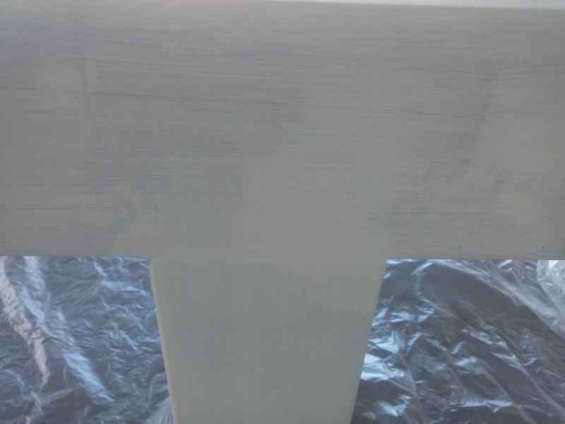 [TERMINE] Fabrication table en bois peint - polycarbonate pour terrasse Img_2045