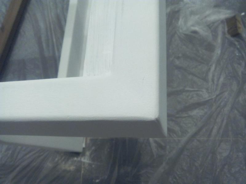 [TERMINE] Fabrication table en bois peint - polycarbonate pour terrasse Img_2046