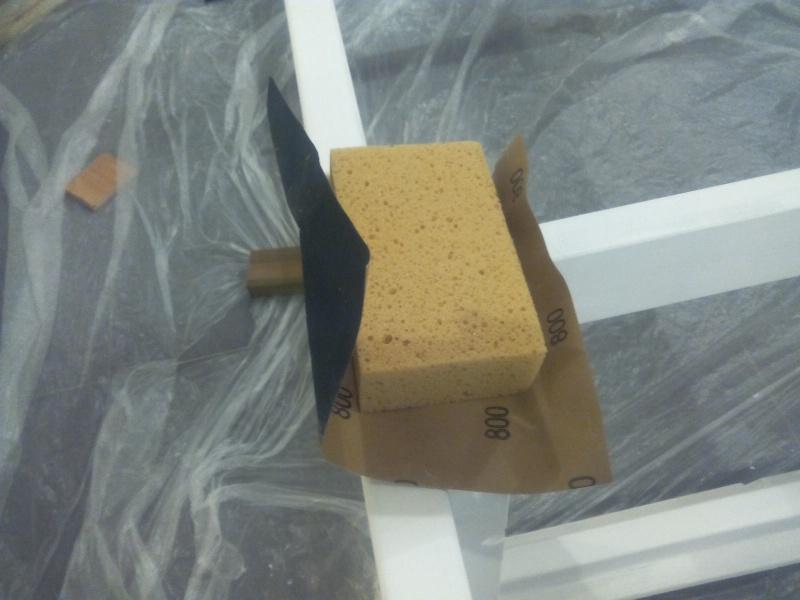 [TERMINE] Fabrication table en bois peint - polycarbonate pour terrasse Img_2048