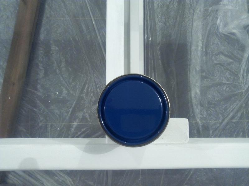 [TERMINE] Fabrication table en bois peint - polycarbonate pour terrasse Img_2050