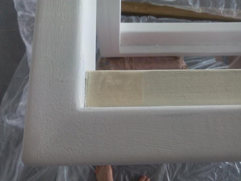 [TERMINE] Fabrication table en bois peint - polycarbonate pour terrasse Img_2057