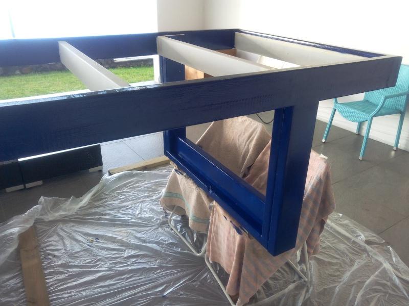 [TERMINE] Fabrication table en bois peint - polycarbonate pour terrasse Img_2060
