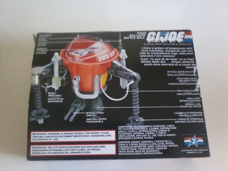 Gi Joe Pogo Ballistic Battle Ball Nuovo In Scatola 2015-016
