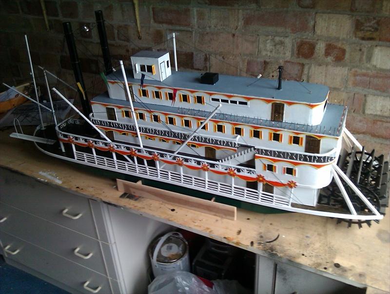 The Pamela3 a scratch built Mississippi sternwheeler Imag1310