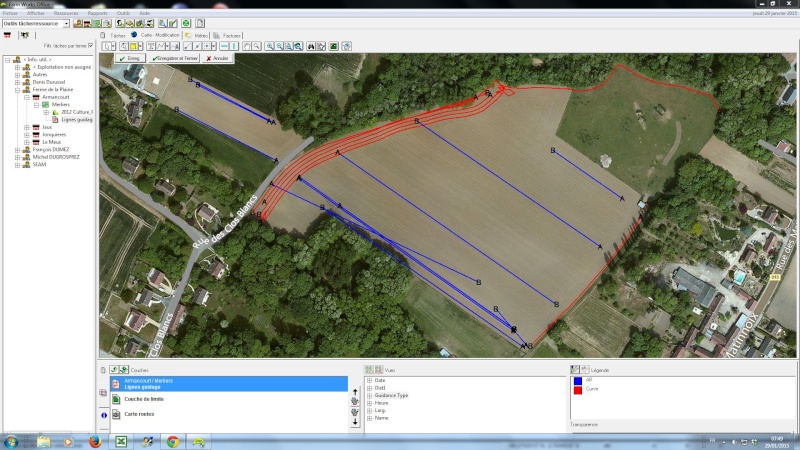 Outil de gestion des lignes de guidage Farmwo10