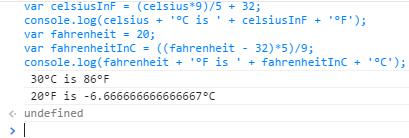 Converting Fahrenheit <-> Celsius Manually & w/ JavaScript Screen17