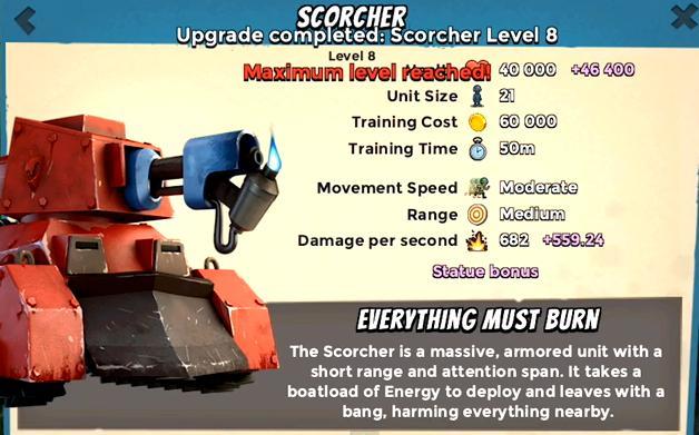 Maximum Level Troopers & Battle assist Scroch10