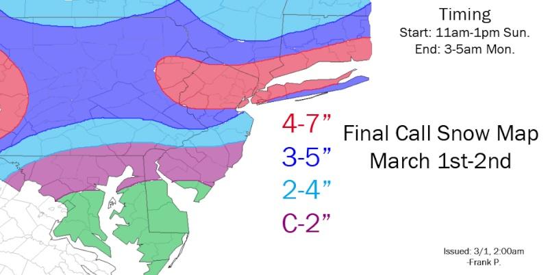 3/1-3/2 Snow Maps Thread Franks11