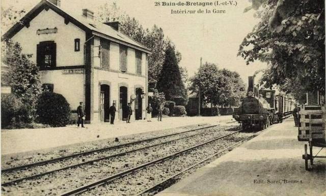 La gare de Bain de Bretagne Ligne de Châteaubriant-Messac-Ploermel Bain110