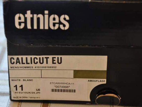 Vends ETNIES Callicut White Camouflage - P 45 Etnies12