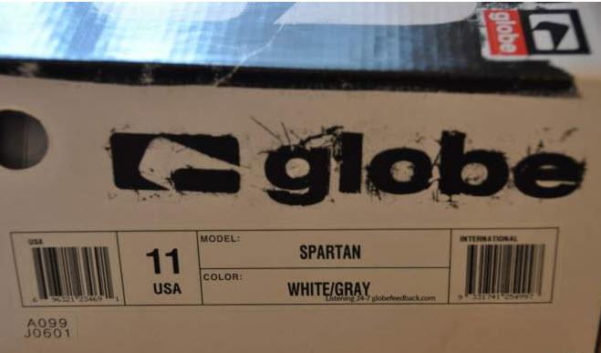 Vends GLOBE Spartan Gris/Blanc/Vert - P 45 Globe012