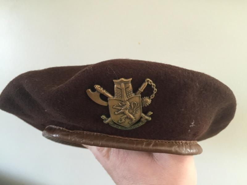 Belgium BUNC Brown Beret Image12