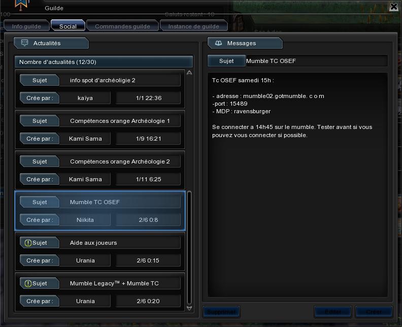 Astuces de la guilde Legacy a replacer Bandic19