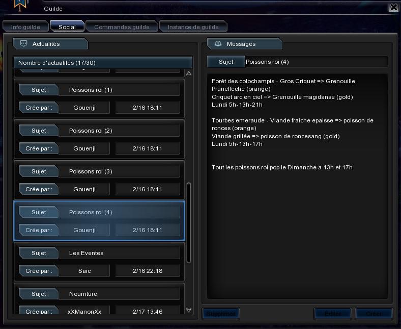 Astuces de la guilde Legacy a replacer Bandic23