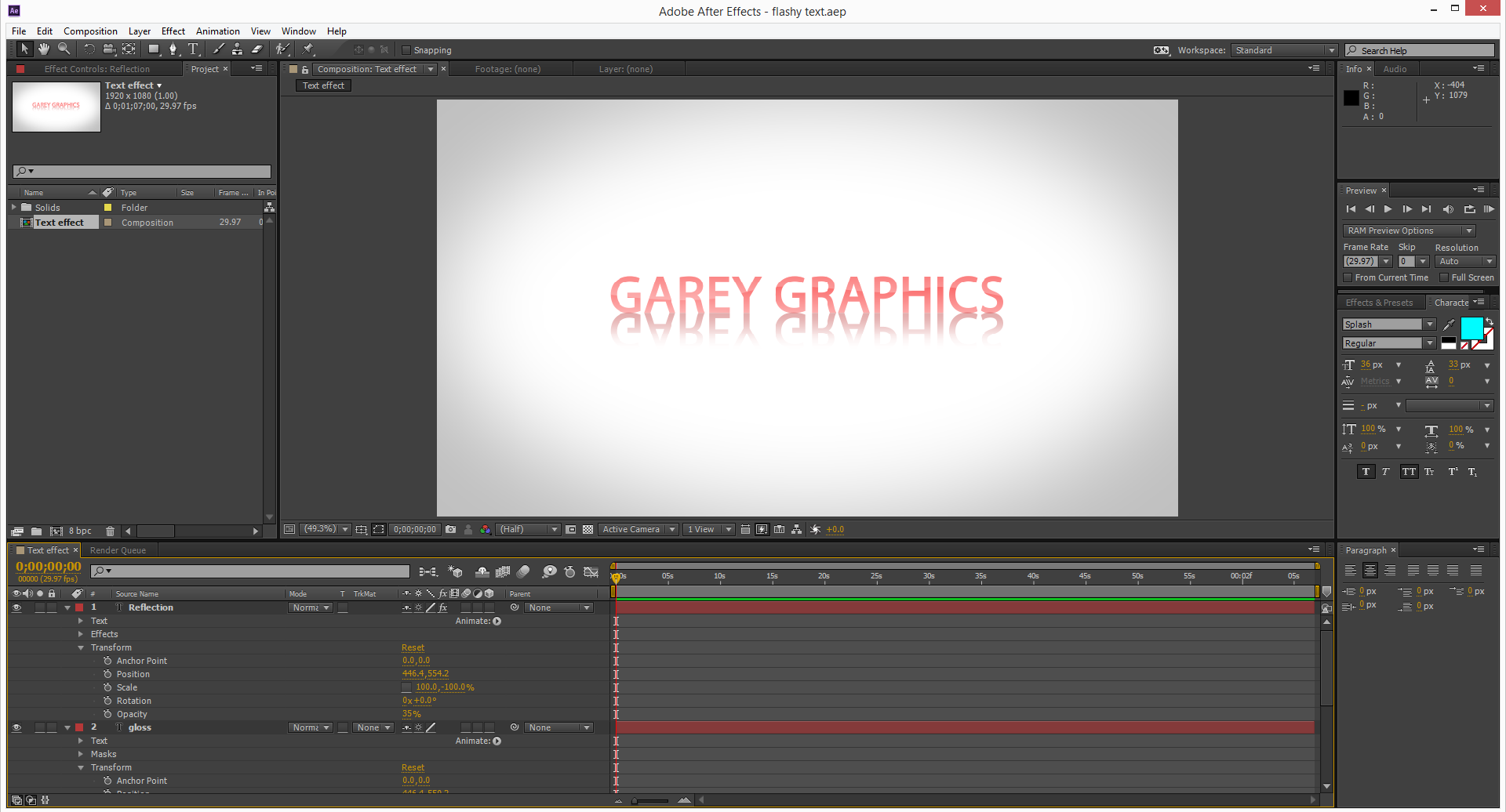 Font Creation [Adobe After Effects] 83ccb710