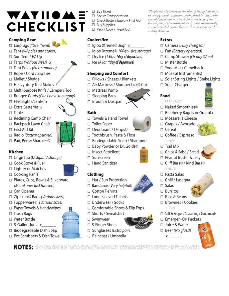 Camping Checklist Erase10