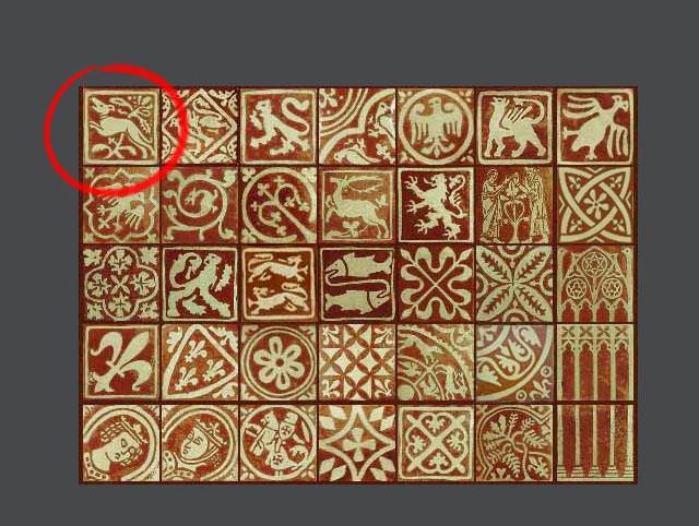 Méreau de plomb datant du XIIIe siècle environ  Carrea10