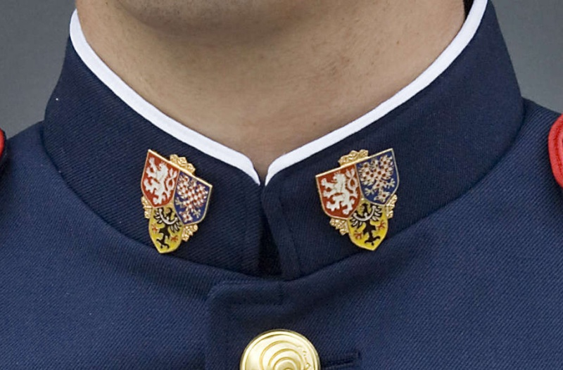 How to attach this lapel pin to my uniform Collar13