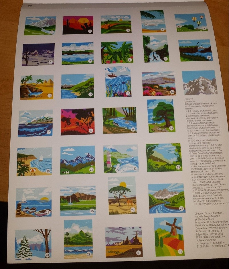 paysages à colorier par numéro Camille de Montmorillon édition broché 20150229
