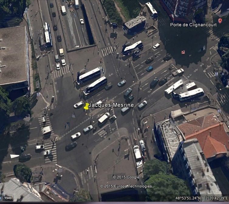 Porte de Clignancourt, Paris : fin de voyage pour Jacques Mesrine  2015-010