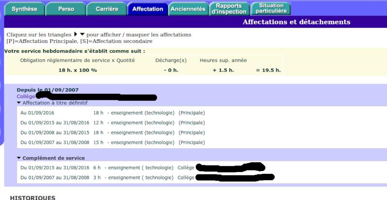 Mvt Spécifique chef de travaux : sms + projet... MAIS CAPN déjà passée... Iprof210