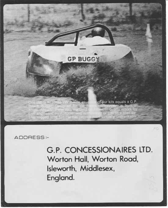 Brochures commerciales GP Beach et Super Buggies Gpbugg13