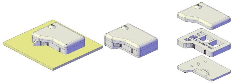Modélisation en 3D d'un bunker R102 Bunker11