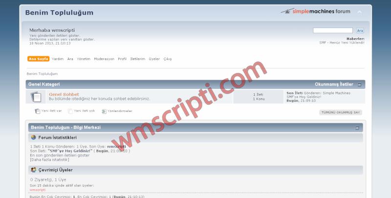 New forum script Smf-fo11