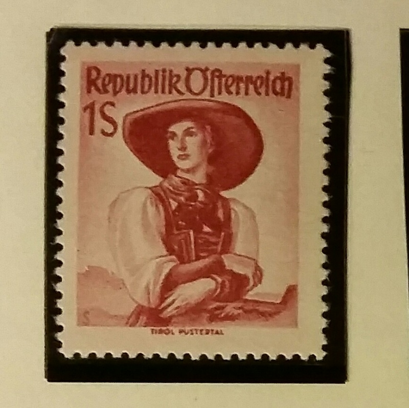 Republik Österreich 1.- S rot, Wert!! 20150316
