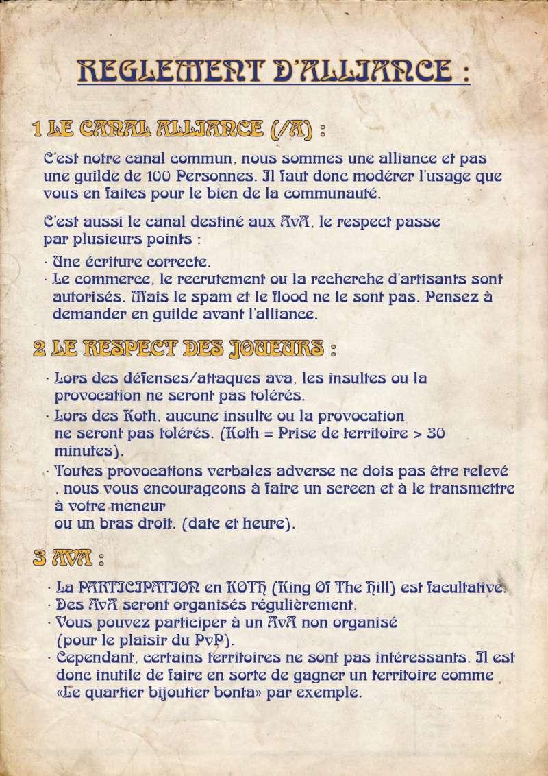 Règlement d'alliance Charte15