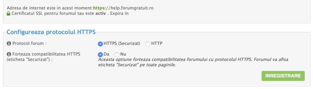 Certificat SSL acum GRATUIT pentru toate forumurile  Scherm10