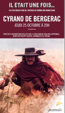 Cinémas  Pathé et Gaumont   CYRANO DE BERGERAC  le 25 oct. à 20h Cyrano10