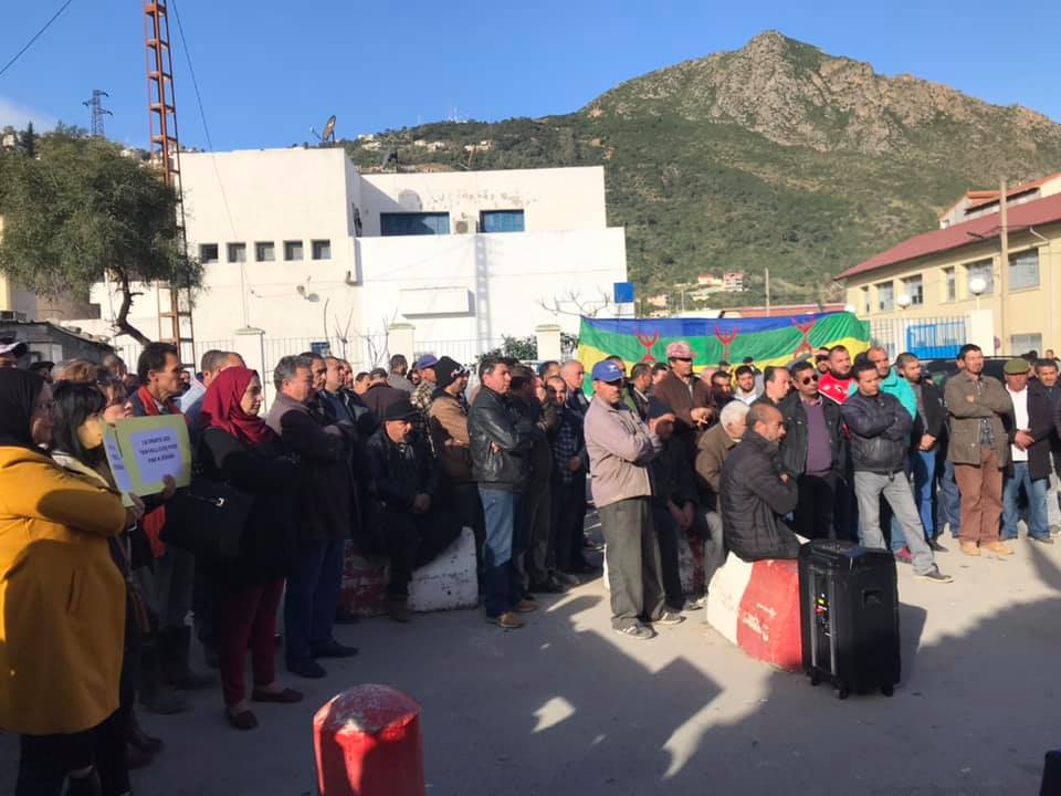 PROTESTATION DEVANT LE SIEGE DE LA DAIRA D'AOKAS LE JEUDI 06 FEVRIER 2020  138