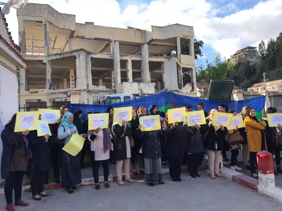 PROTESTATION DEVANT LE SIEGE DE LA DAIRA D'AOKAS LE JEUDI 06 FEVRIER 2020  139