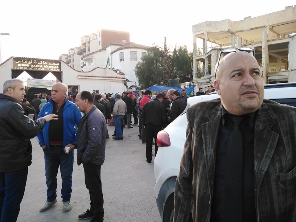 PROTESTATION DEVANT LE SIEGE DE LA DAIRA D'AOKAS LE JEUDI 06 FEVRIER 2020  312