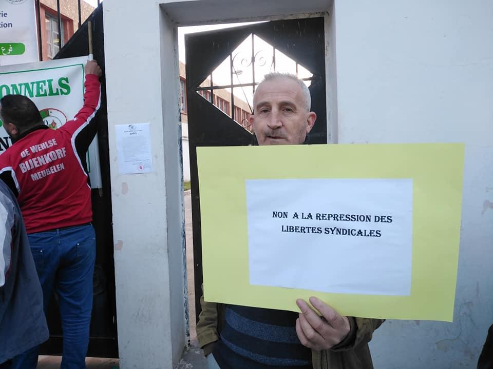 PROTESTATION DEVANT LE SIEGE DE LA DAIRA D'AOKAS LE JEUDI 06 FEVRIER 2020  711